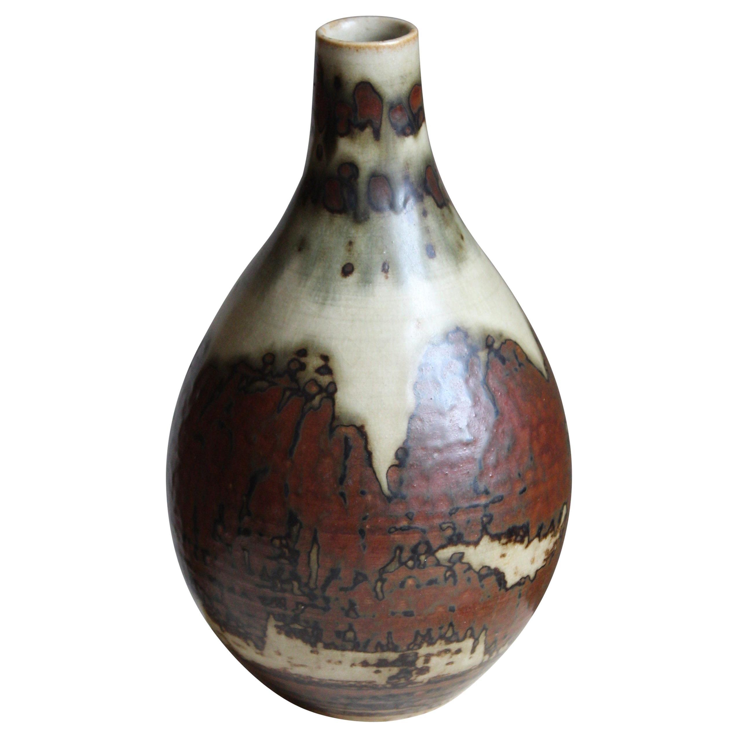 Carl Halier, Vase, Glazed Stoneware, Royal Copenhagen, 1950s
