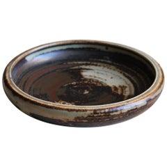 Carl Hallier, Dish or Vide-Poche Glazed Stoneware, Royal Copenhagen, 1950s