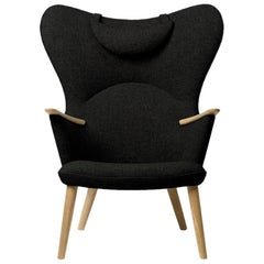 Carl Hansen CH78 Mama Bear Chair in Oak/ Fiord 0991 Fabric by Hans J. Wegner