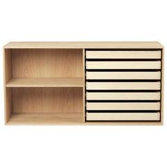 Carl Hansen FK63 2110 Deep Cabinet with Shelf in Oak Oil by Fabricius & Kastholm