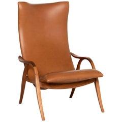 Carl Hansen & Søn Leather Armchair Brown Lounge Chair