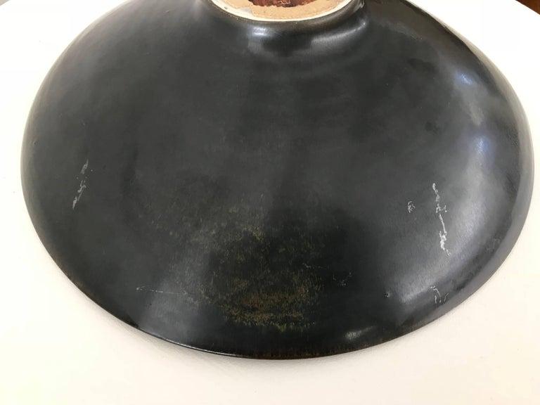 Carl Harry Stålhane for Rörstrand Stoneware Biomorphic Bowl in Haresfure Glaze For Sale 1