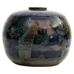 Carl-Harry Stålhane Blue Studio Vase, Scandinavian Modern