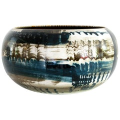 Carl-Harry Stalhane Ceramic Bowl with Abstract Design Rorstrand, Sweden