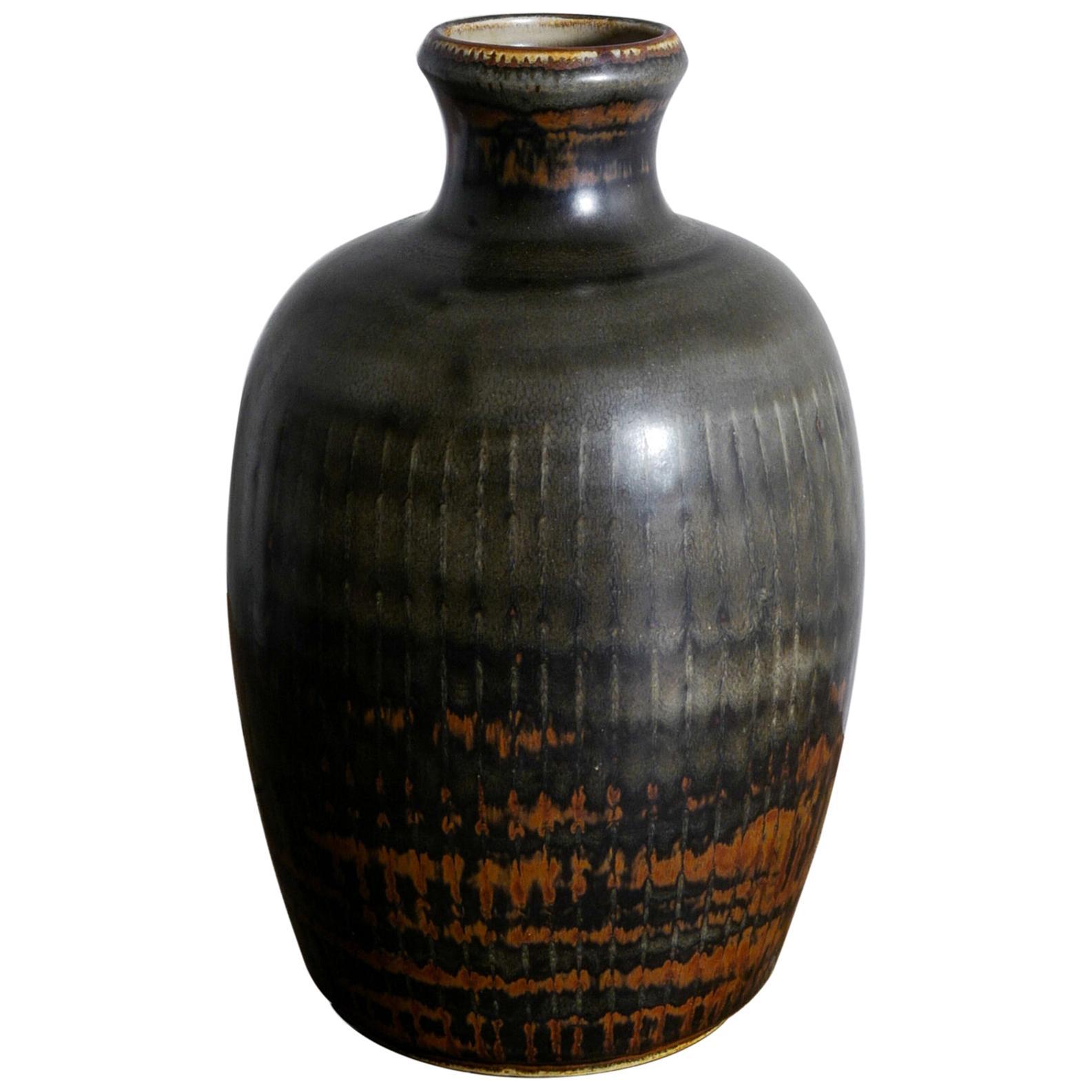 Carl-Harry Stålhane Ceramic Vase Produced by Rörstrand, Sweden, 1950s
