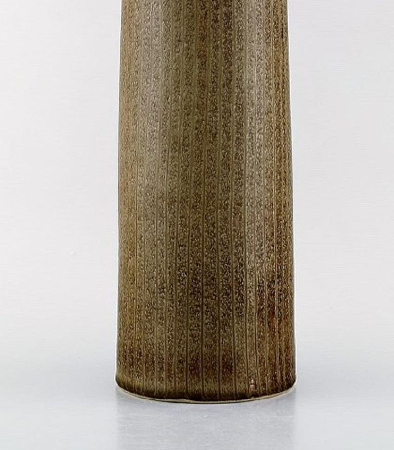 Swedish Carl Harry Stålhane for Rörstrand, Large Cylindrical Vase in Glazed Ceramics For Sale