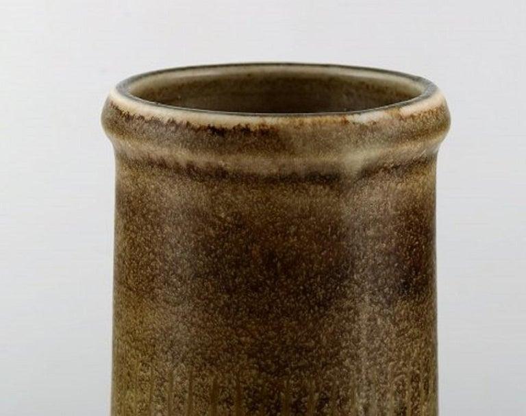 Carl Harry Stålhane for Rörstrand, Large Cylindrical Vase in Glazed Ceramics In Good Condition For Sale In Copenhagen, Denmark