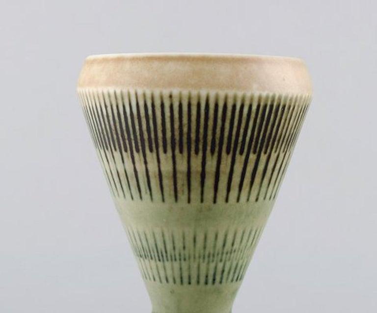 Scandinavian Modern Carl-Harry Stalhane for Rorstrand / Rørstrand, Ceramic Vase For Sale