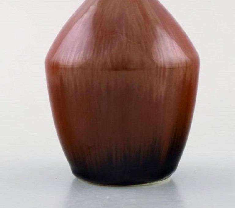Swedish Carl-Harry Stålhane for Rörstrand / Rørstrand, Narrow-Necked Ceramic Vase, 1950s For Sale