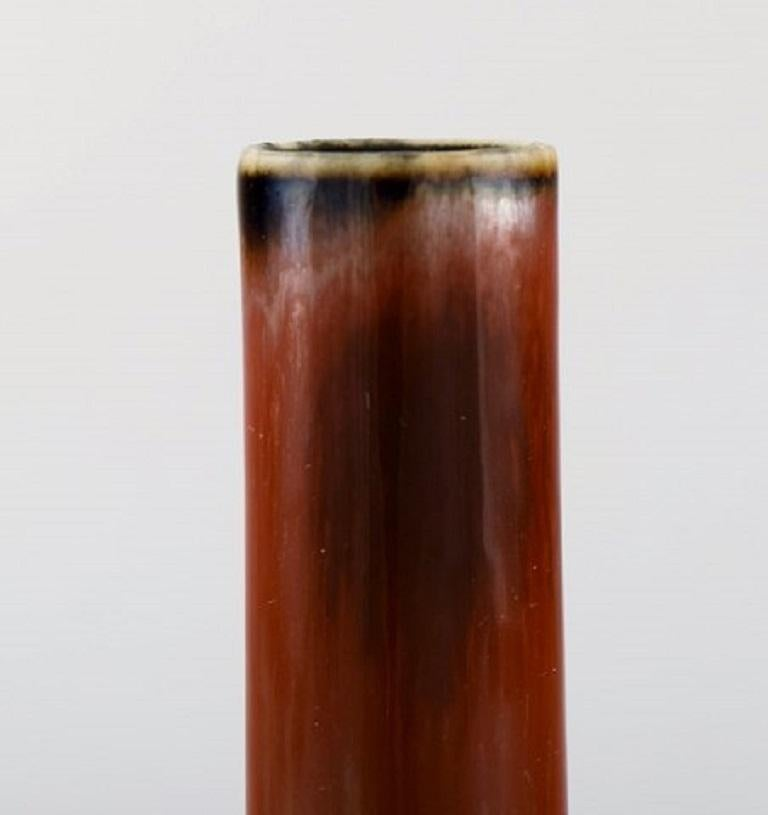 Carl-Harry Stålhane for Rörstrand / Rørstrand, Narrow-Necked Ceramic Vase, 1950s In Excellent Condition For Sale In Copenhagen, Denmark