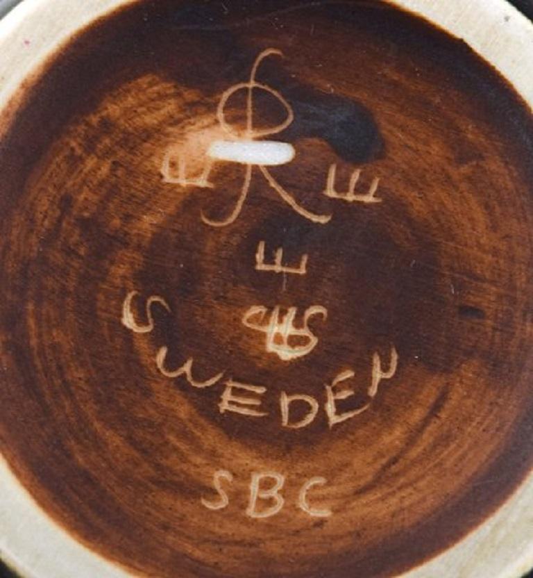Mid-20th Century Carl-Harry Stålhane for Rörstrand / Rørstrand, Narrow-Necked Ceramic Vase, 1950s For Sale