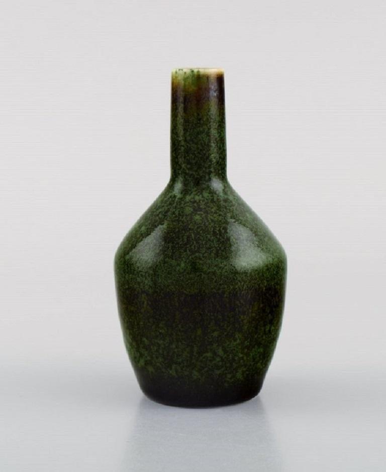 Scandinavian Modern Carl Harry Stålhane for Rörstrand, Vase in Glazed Ceramics, Mid-20th C For Sale
