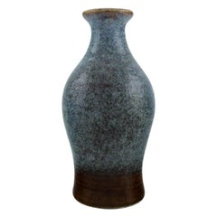 Carl Harry Stålhane for Rörstrand, Vase in Glazed Ceramics, Mid-20th Century