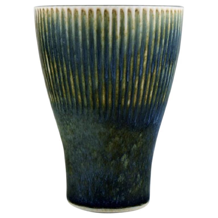 Carl Harry Stålhane for Rörstrand, Vase in Glazed Ceramics, Mid-20th C