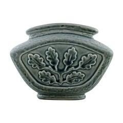 Carl-Harry Stålhane for Rörstrand. Vase in glazed stoneware with foliage