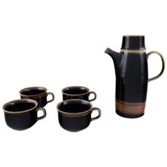 """Carl-Harry Stålhane for Rörstrand, """"Viking"""" Coffee Pot and Four Coffee Cups"""