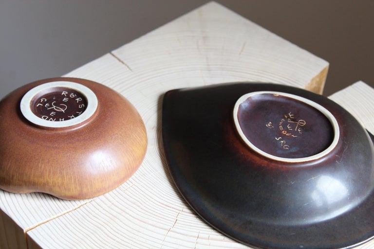Mid-20th Century Carl-Harry Stålhane & Gertrud Lönegren, small bowls, Stoneware, Rörstrand, 1950s For Sale