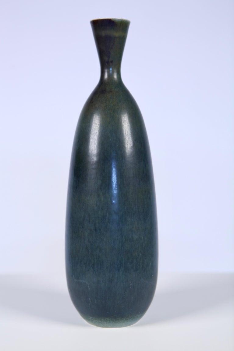 Carl-Harry Stålhane, Glazed Ceramic Vase, Rörstrand, Sweden, 1957 For Sale 4