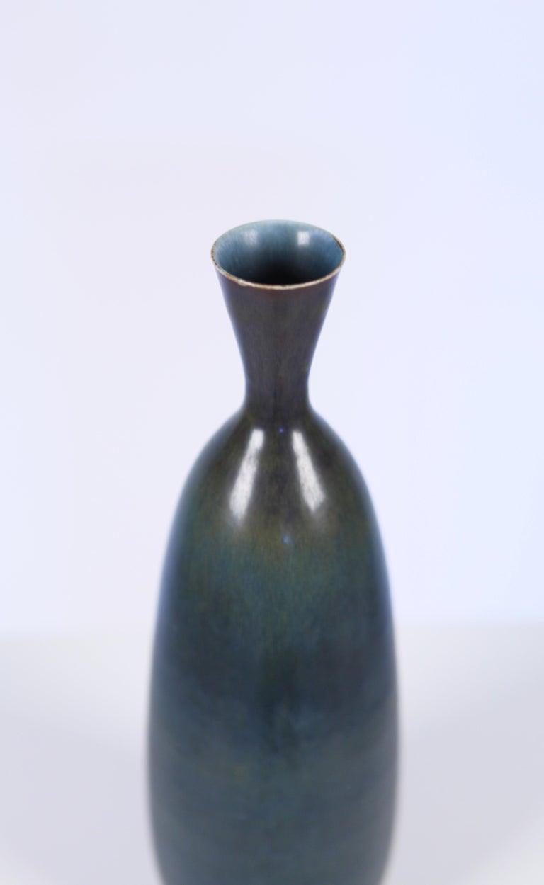 Mid-20th Century Carl-Harry Stålhane, Glazed Ceramic Vase, Rörstrand, Sweden, 1957 For Sale