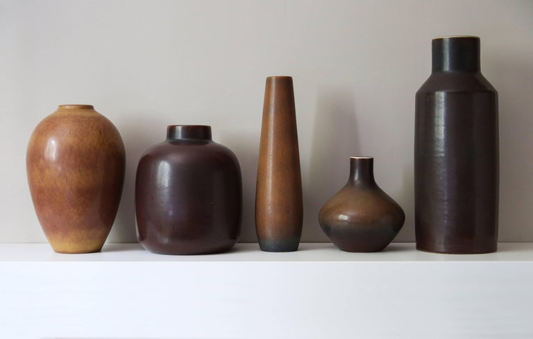 Swedish Carl-Harry Stålhane & Gunnar Nylund Collection of Decorative Vessels, 1950s For Sale