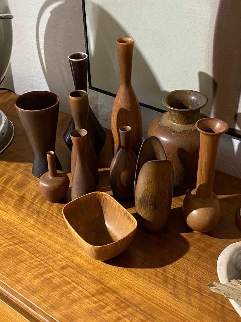 Mid-Century Modern Carl-Harry Stålhane & Gunnar Nylund, Stoneware vessels, Rörstand, Sweden, 1940s For Sale
