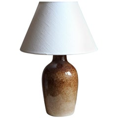 Carl-Harry Stålhane & Kent Eriksson, Table Lamp Glazed Stoneware, Studio, 1960s