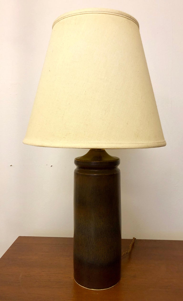 Mid-20th Century Carl Harry Stalhane Pottery Lamp For Sale