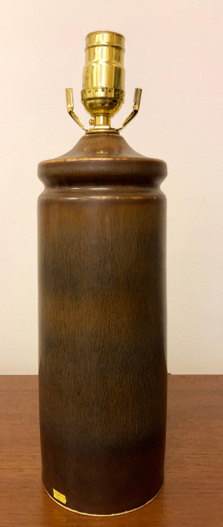 Ceramic Carl Harry Stalhane Pottery Lamp For Sale