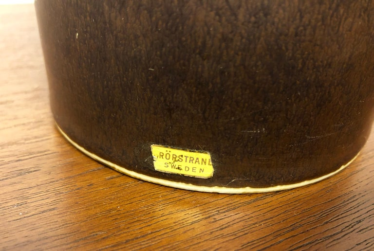 Carl Harry Stalhane Pottery Lamp For Sale 2