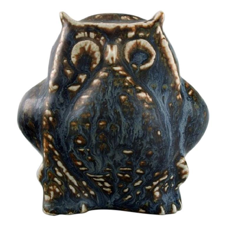Carl Harry Stålhane, Rörstrand, Stoneware Figure, Owl