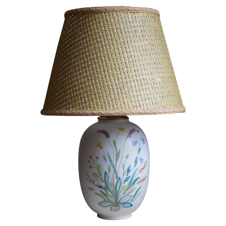Carl-Harry Stålhane, Table Lamp, Ceramic, Rörstand, 1950s