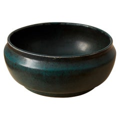 Carl-Harry Stålhane, Unique Bowl, Glazed Stoneware, Rörstrand, 1960s