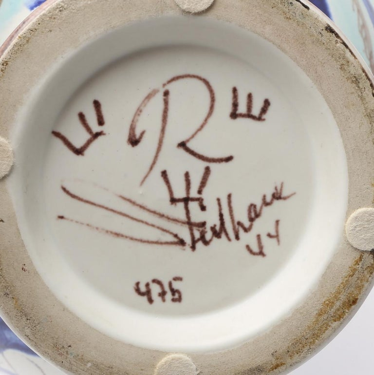 Carl-Harry Stålhane, Unique Hand Decorated Vase, Sweden, 1944 For Sale 2