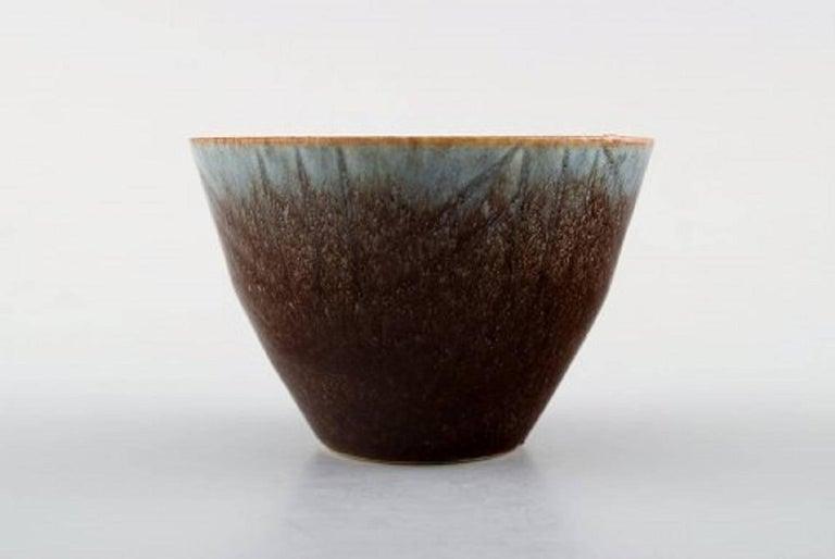 Scandinavian Modern Carl Harry Stålhane, Rörstrand Stoneware Bowl, Beautiful Glaze For Sale