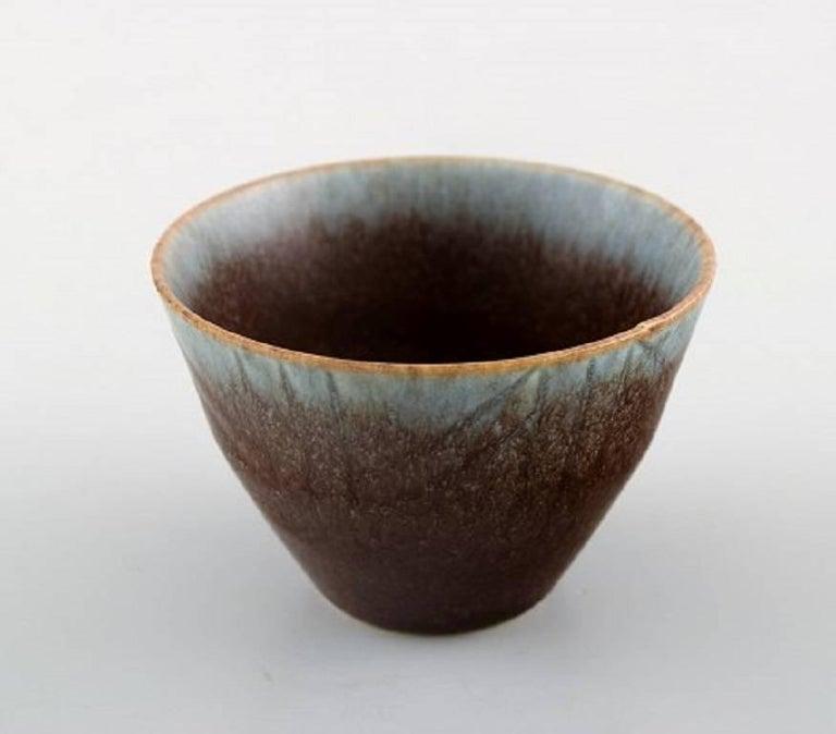 Swedish Carl Harry Stålhane, Rörstrand Stoneware Bowl, Beautiful Glaze For Sale