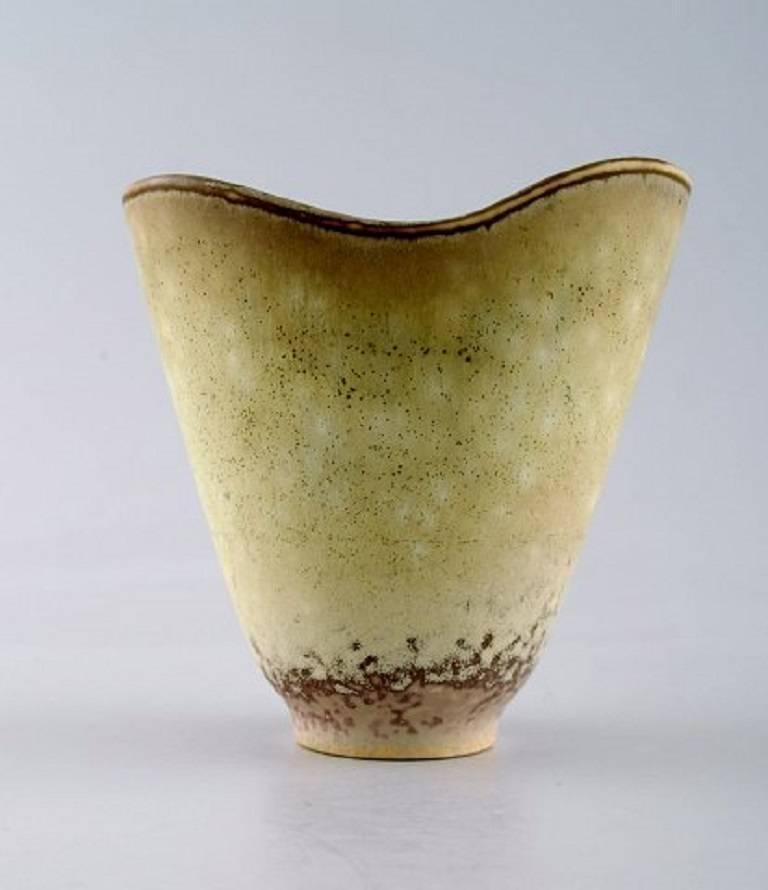 Scandinavian Modern Carl Harry Stålhane, Rörstrand Stoneware Vase For Sale