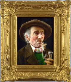 19th Century oil painting portrait of a Tyrolean gentlemen