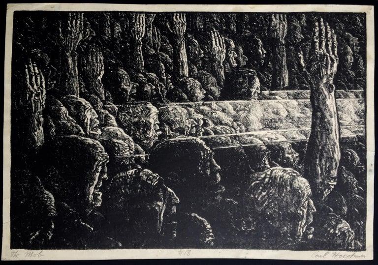 THE MOB - Print by Carl Hoeckner