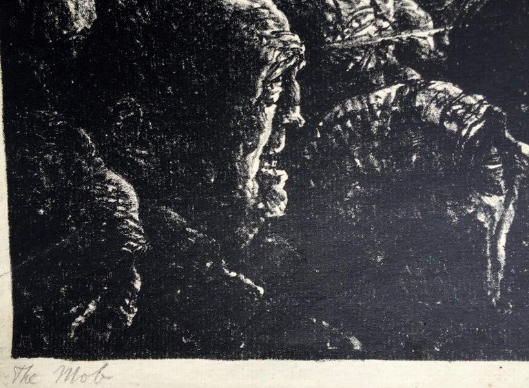 THE MOB - Black Figurative Print by Carl Hoeckner
