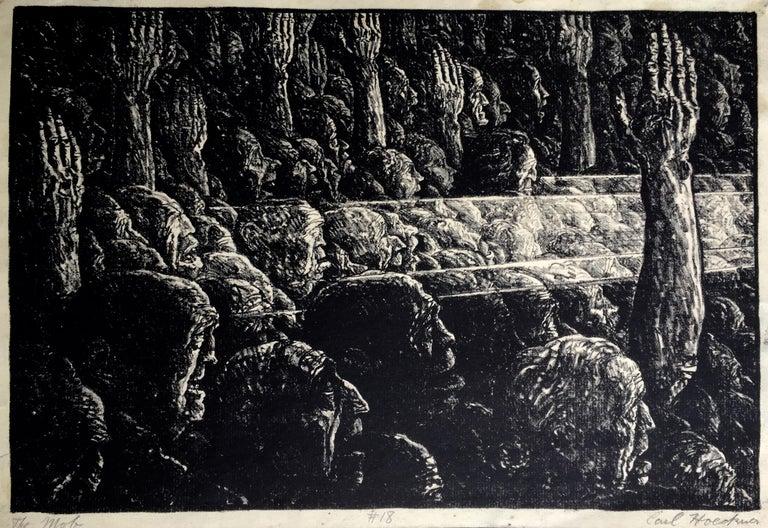 Carl Hoeckner Figurative Print - THE MOB