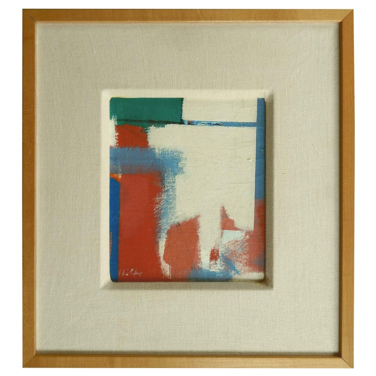"""Carl Holty German American Artist Abstract Painting, """"Break Through"""" For Sale"""
