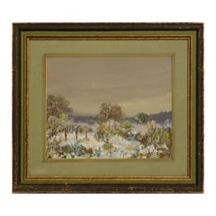 """""""Snow in the Hill Country"""" Naturalistic Winter Pastoral Texas Landscape Painting"""