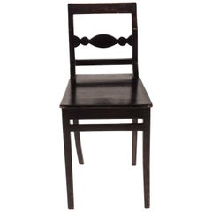 Carl Johan Swedish Chair 1800s in Painted Birch
