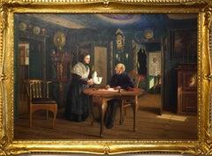 'Genre Scene in the Altfriesischen Haus' painting by Carl Johann Spielter