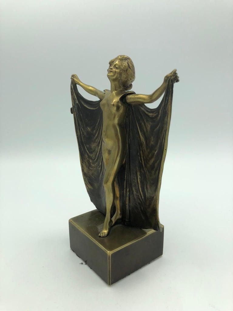 Open Sesame (Mechanical Bronze) - Sculpture by Carl Kauba