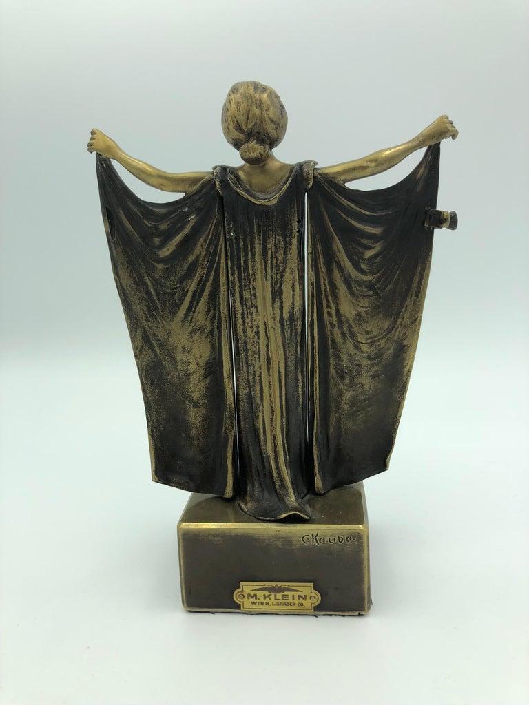Open Sesame (Mechanical Bronze) - Art Nouveau Sculpture by Carl Kauba