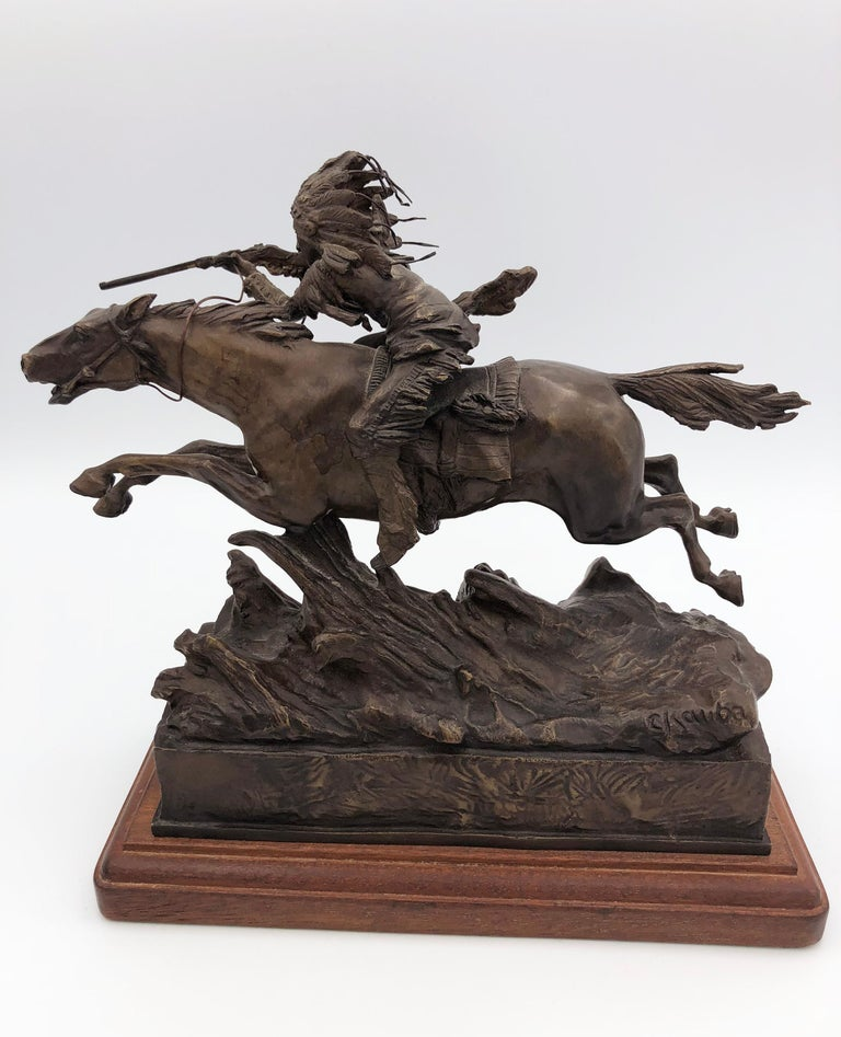Study Aim - Realist Sculpture by Carl Kauba