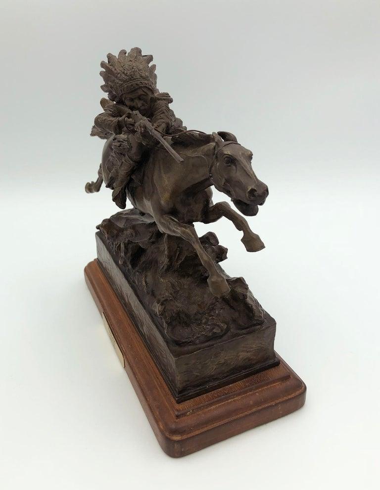 Study Aim - Gold Figurative Sculpture by Carl Kauba
