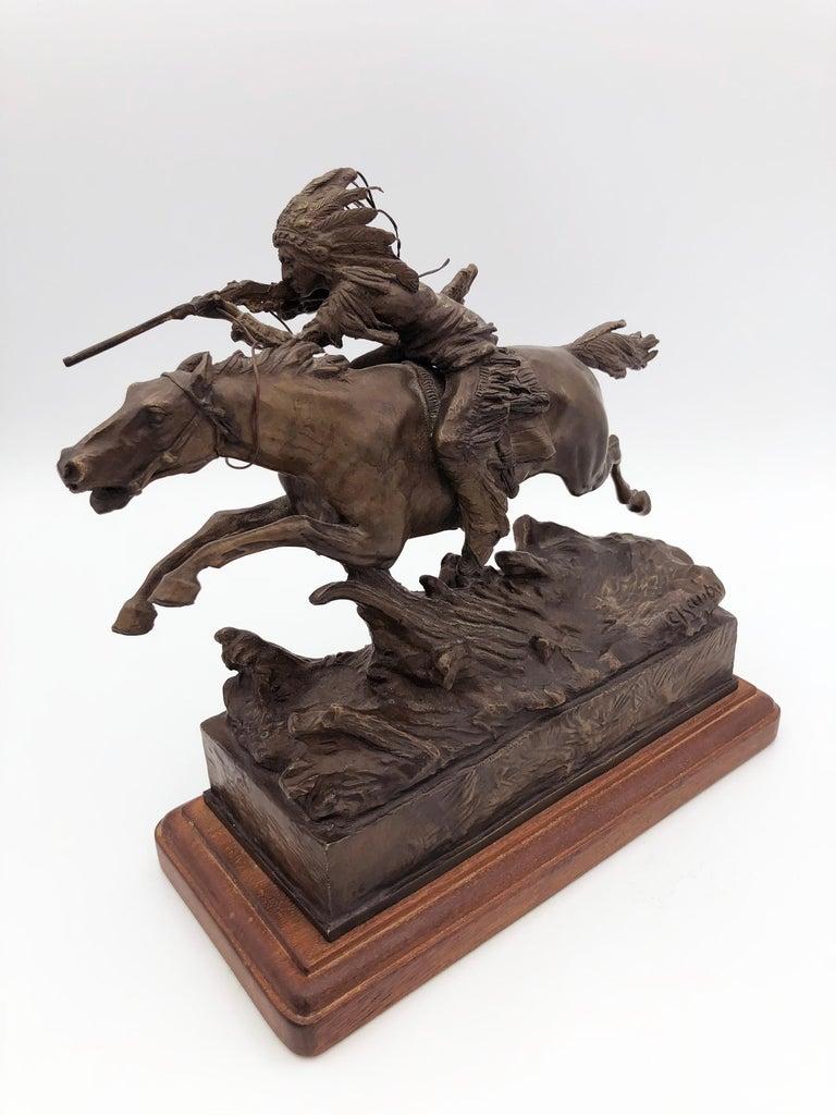 Carl Kauba Figurative Sculpture - Study Aim