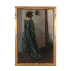 Carl Kunst Oil On Canvas German School 20th Century, Female Portrait